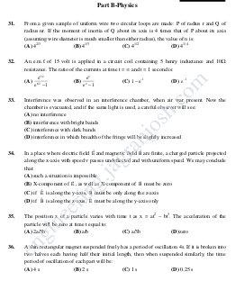 Engineering-JEE Main Solved Sample Paper Set-VIII