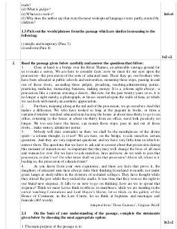 CBSE-CBSE Sample Paper Class 12 English Core 2017 Questions