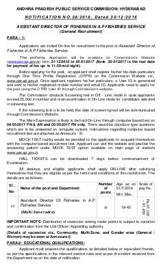 IAS-PCS-Andhra Pradesh PSC Recruitment 2017 for 10 Assistant Director Posts