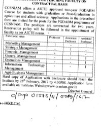 UGC-CCSNIAM Recruitment 2017 for 8 Faculty Posts
