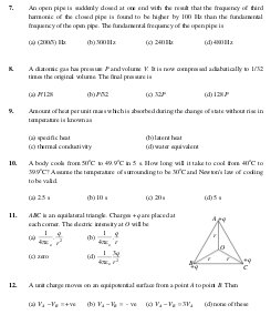Engineering-JEE Main Sample Paper Set 10 Physics Questions