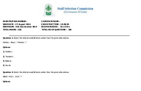 SSC-SSC CGL 2016 Tier -I exam held on 27th August English Questions