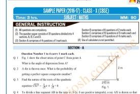 CBSE-CBSE Class 10 SA 2 Maths Sample Paper 2017