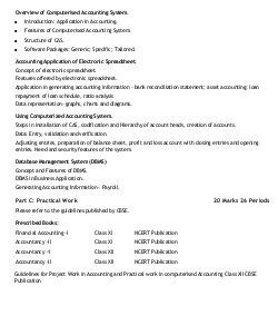 CBSE-CBSE Syllabus Class 12 Accountancy 2017 - 2018