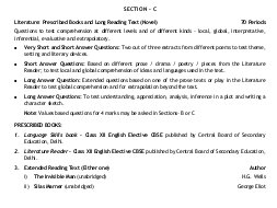 CBSE-CBSE Class 12 English Elective (CBSE) 2017-2018 Syllabus