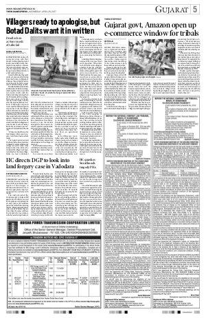 Ahmedabad-April 26, 2017