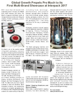 Modern Plastics India -Vol.18  | Issue - 04 | May 2017 | Mumbai