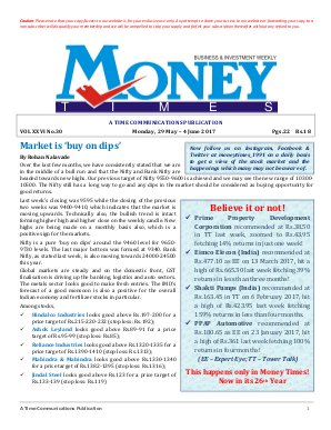 MONEY TIMES-Monday, 29 May - 4 June 2017