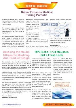 Modern Plastics India -Vol.18  | Issue - 05 | June 2017 | Mumbai