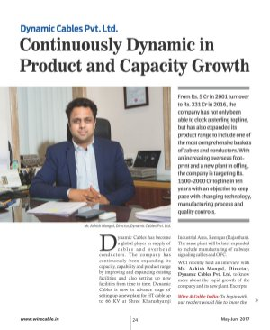 Wire & Cable India-May-June, 2017