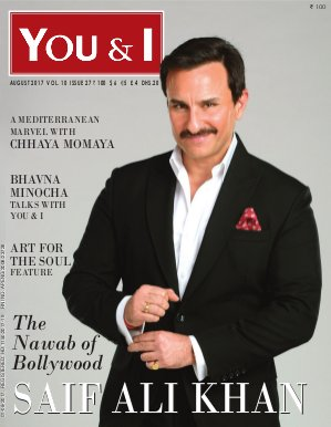 You & I Monthly Magazine-August-2017, Issue 27- Saif Ali Khan Magazine cover