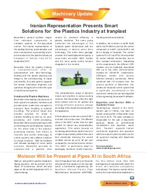 Modern Plastics India -Vol.18  | Issue - 08 | September 2017 | Mumbai