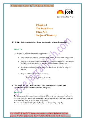 CBSE-The solid state