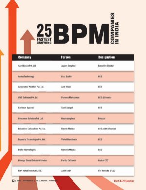 The CEO Magazine-The CEO Magazine, BPM & Unified Communication, Octorber 2017