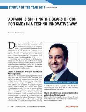 The CEO Magazine-STARTUPS OF THE YEAR 2017, Special Edition