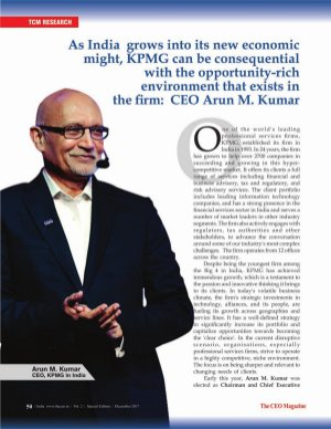 The CEO Magazine-Consultant of the Year 2017, Special Edition