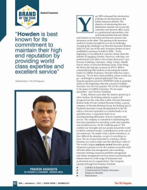 The CEO Magazine-Brand of the Year 2017, Special Edition
