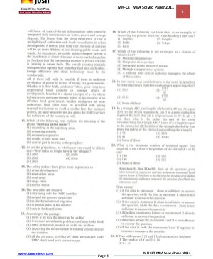 MBA-MH-CET MBA Solved Paper 2011