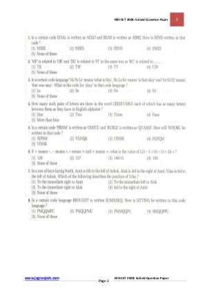 MBA-MH-CET 2008: Solved Question Paper