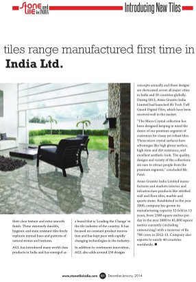 Stone & Tiles in India-Vol 2 No.2, Dec-Jan, 2014