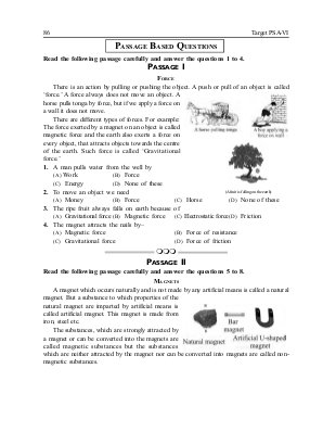 Target PSA Problem Solving Assessment-For Class-6