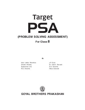 Target PSA Problem Solving Assessment-For Class-8