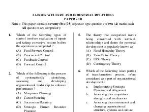 UGC-Question Papers of UGC NET Exams-December 2013 SC 55 Human Resource Management Paper-III