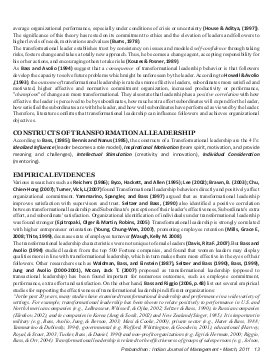 Prabandhan: Indian Journal of Management-PIJM-March11-Article2-Transformational Leadership: A Compound of Competencies