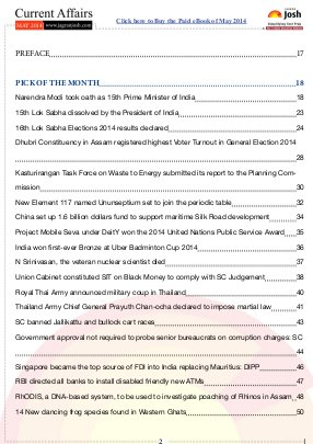 Current Affairs Magazines-Current Affairs May'14 English