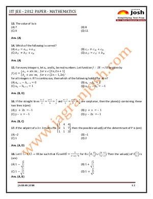 Education News-IITJEE 2012 _ Mathematics