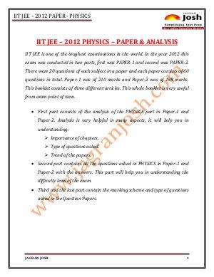 Education News-IITJEE 2012 Paper 1 _ Physics