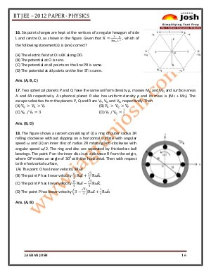 Education News-IITJEE 2012 Paper 1 _ Physics
