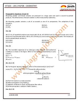 Education News-IITJEE 2012 Paper 1 _CHEMISTRY