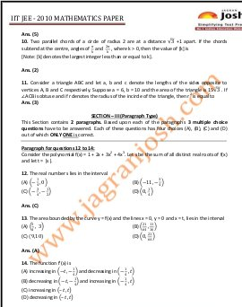 Education News-IITJEE 2010 PAPER - Mathematics1