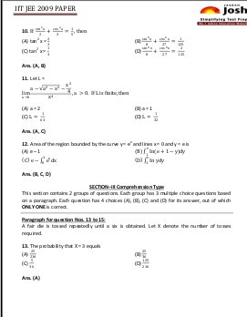 Education News-IITJEE 2009 Mathematics