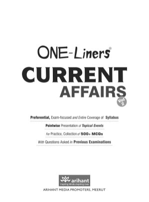 ONE-Liners CURRENT AFFAIRS-August 2014