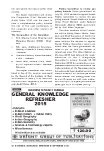 General Knowledge Refresher-GKR SEPTEMBER 2014
