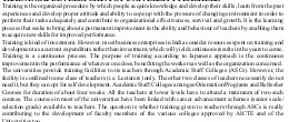 Prabandhan: Indian Journal of Management-PIJM-Nov10-Article2-Training and Development of University Teachers : Role of Academic Staff College