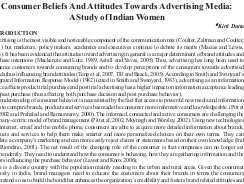 Indian Journal of Marketing-IJM-Dec09-Article4-Consumer Beliefs and Attitudes Towards Advertising Media : A Study of Indian Women