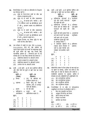 UGC-UGC NET June 2014 Question Paper II Psychology