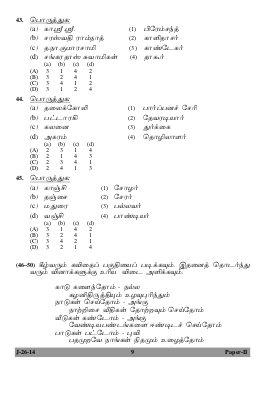 UGC-UGC NET June 2014: Question Papers – Tamil Paper II