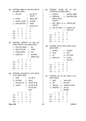UGC-UGC NET June 2014 Question Papers – Hindi III