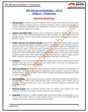 Education News-JEE Advanced 2015 Syllabus Chemistry