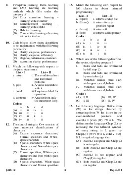 UGC-UGC NET 2014 Question Paper Computer Science and Applications III
