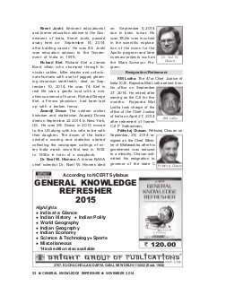 General Knowledge Refresher-NOVEMBER 2014