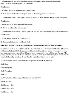 MBA-MAT February 2013 Reasoning Question Paper