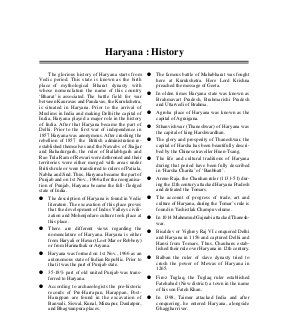Haryana General Knowledge-Thu Nov 27, 2014