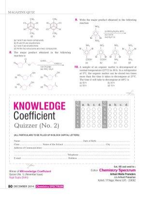 Chemistry Spectrum -December 2014