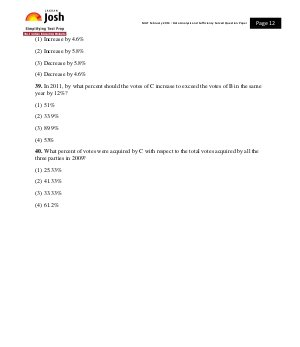 MBA-MAT February 2013 Data Analysis and Sufficiency Solved Question Paper