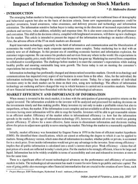 Indian Journal of Finance-IJF-June07-Article7-Impact of Information Technology on Stock Markets